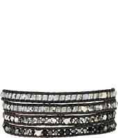 Chan Luu - 32' Swarovski Black Mix Crystal Wrap Bracelet