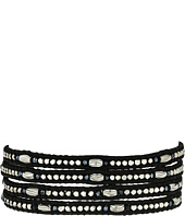 Chan Luu - 32' Midnight Crystal Wrap on Natural Black Leather Bracelet
