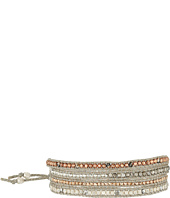 Chan Luu - 32' Rose Gold Mix with Swarvoski Crystals, Semi Previous Stones and Ribbon Bracelet