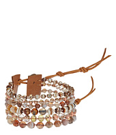 Chan Luu - 7' Multi Strand Copper Single with Swarovski Crystals and Semi Precious Stones Bracelet