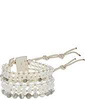 Chan Luu - 7' Multi Strand White Single with Swarovski Crystals and Semi Precious Stones Bracelet