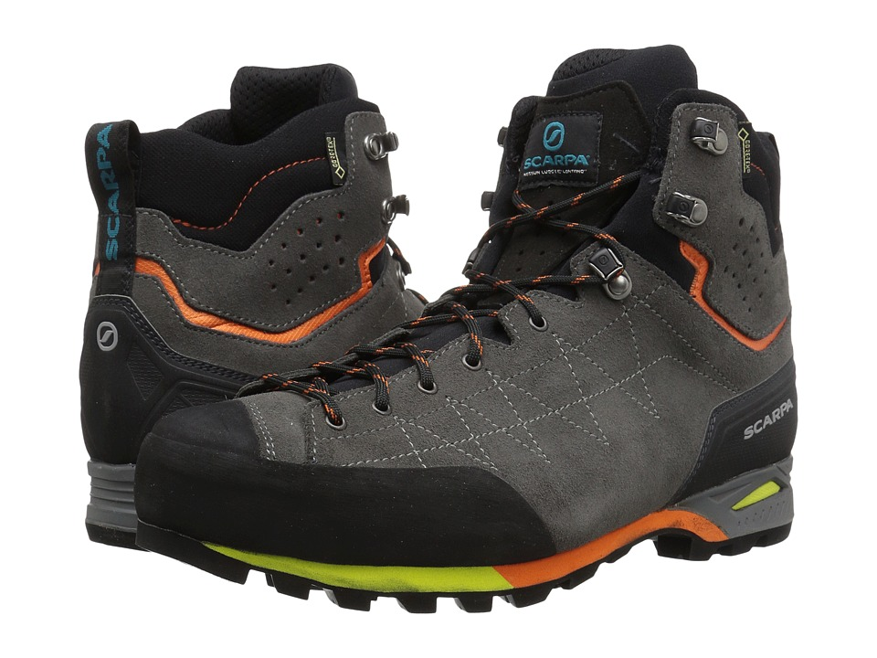Scarpa - Zodiac Plus GTX (Shark/Orange) Mens Shoes