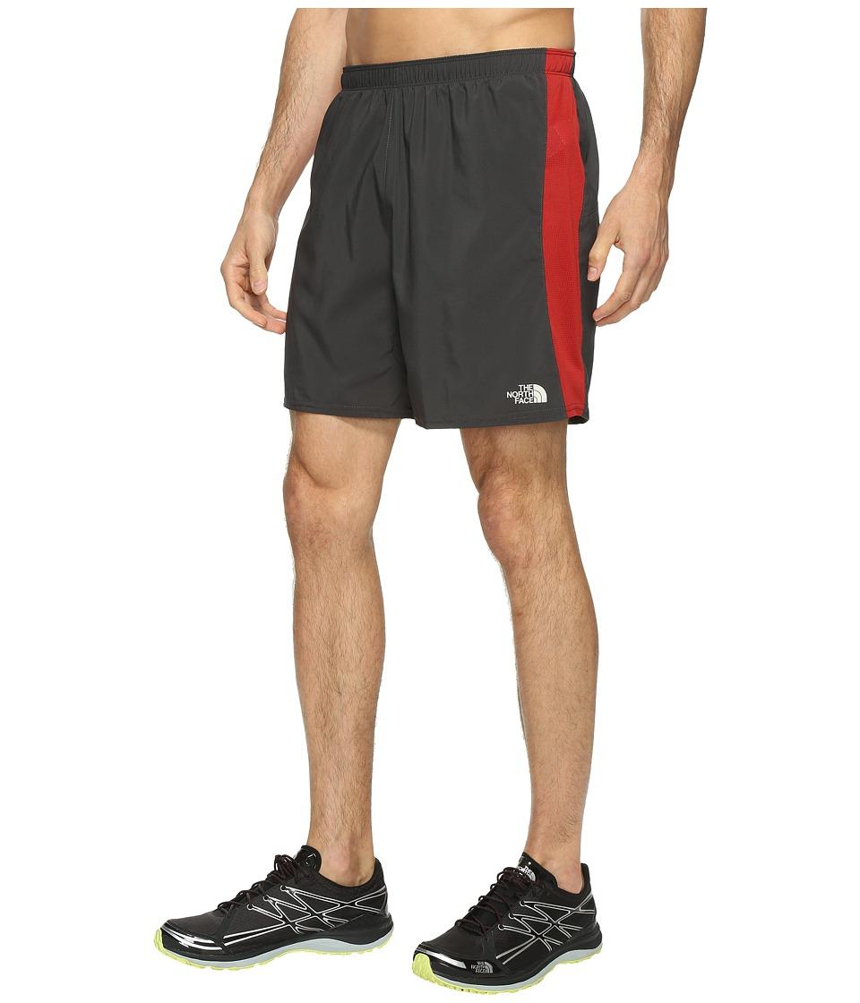 The North Face NSR Shorts 7 (Ashpalt Grey/Cardinal Red) Men