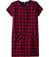Toobydoo - Red Flannel Shift Dress (Toddler/Little Kids/Big Kids)
