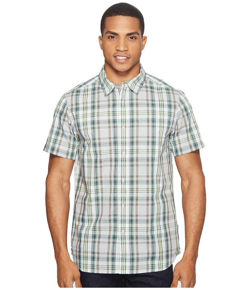 The North Face Short Sleeve Passport Shirt (High-Rise Grey Plaid (Prior Season)) Men