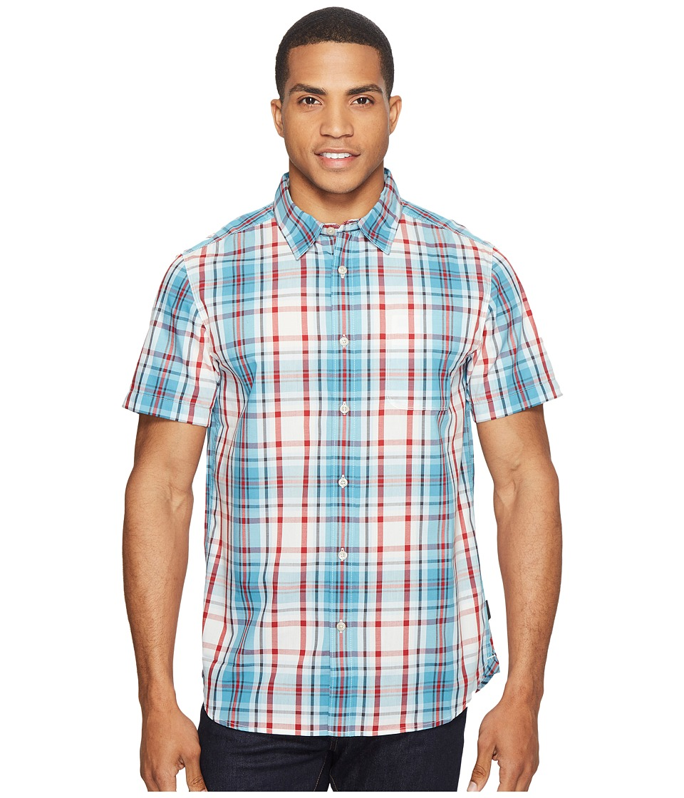 The North Face Short Sleeve Passport Shirt (Vintage White Plaid) Men