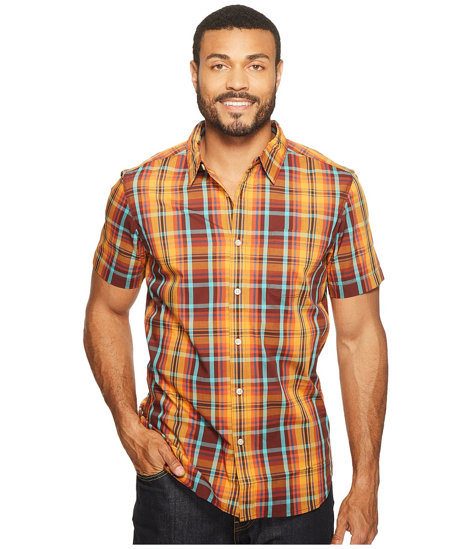 The North Face Short Sleeve Passport Shirt (Sequoia Red Plaid (Prior Season)) Men