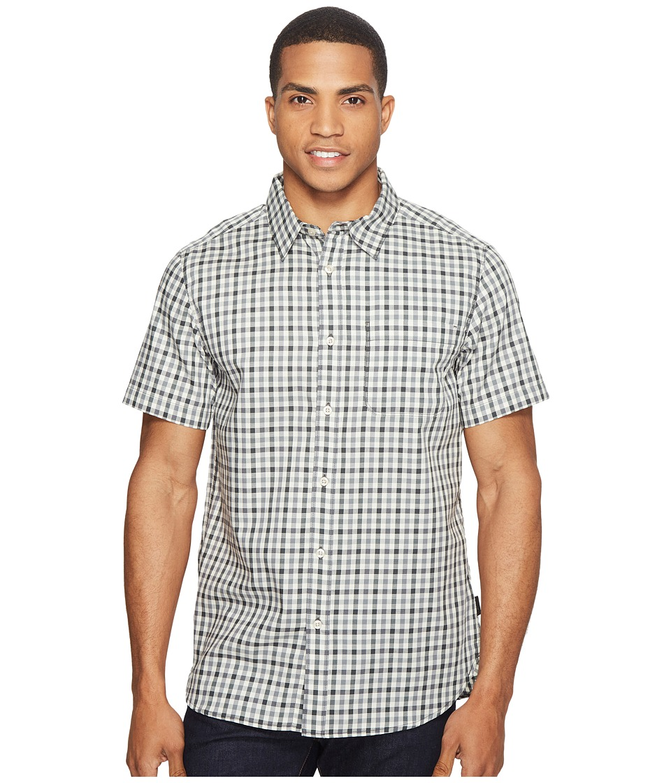 The North Face Short Sleeve Passport Shirt (Asphalt Grey Plaid (Prior Season)) Men