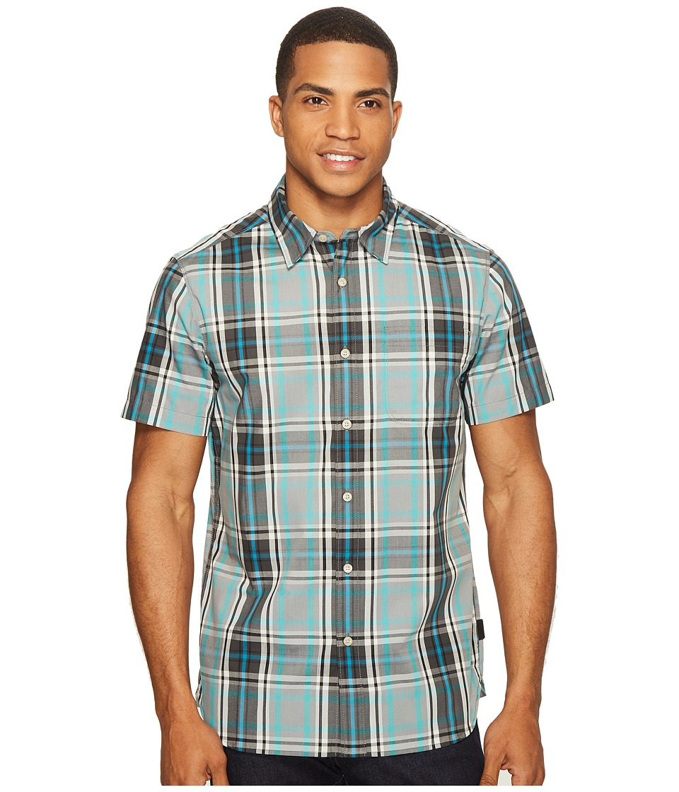 The North Face Short Sleeve Passport Shirt (Mid Grey Plaid (Prior Season)) Men