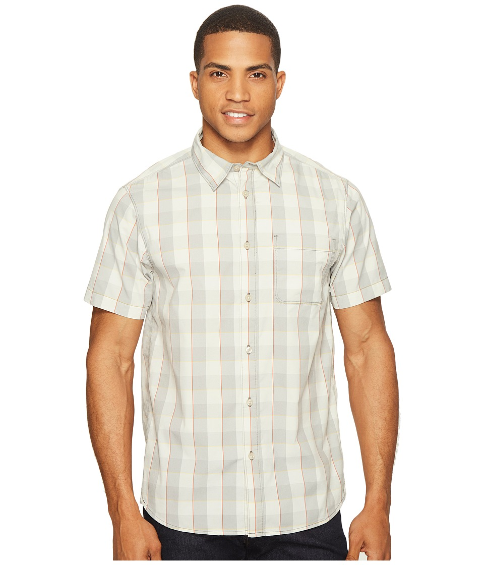 The North Face Short Sleeve Voyager Shirt (High-Rise Grey Plaid) Men