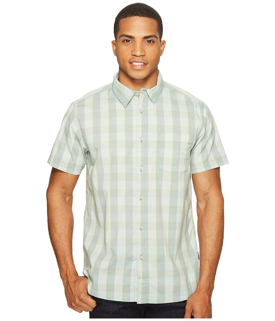 The North Face Short Sleeve Voyager Shirt (Laurel Wreath Green Plaid) Men