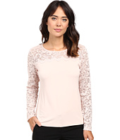 Calvin Klein - Long Sleeve Top with Lace Yoke and Sleeve