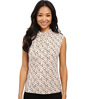 Calvin Klein - Sleeveless Printed Top w/ High Neck