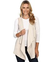 Calvin Klein - Vest w/ Suede Drape