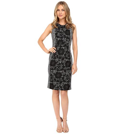 Calvin Klein Boucle Sheath Dress w/ Lace