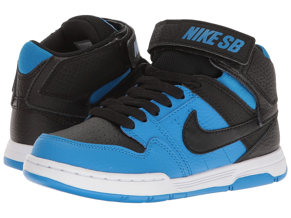 Nike SB Kids Mogan Mid 2 Jr (Little Kid/Big Kid) (Black/Photo Blue) Boys Shoes