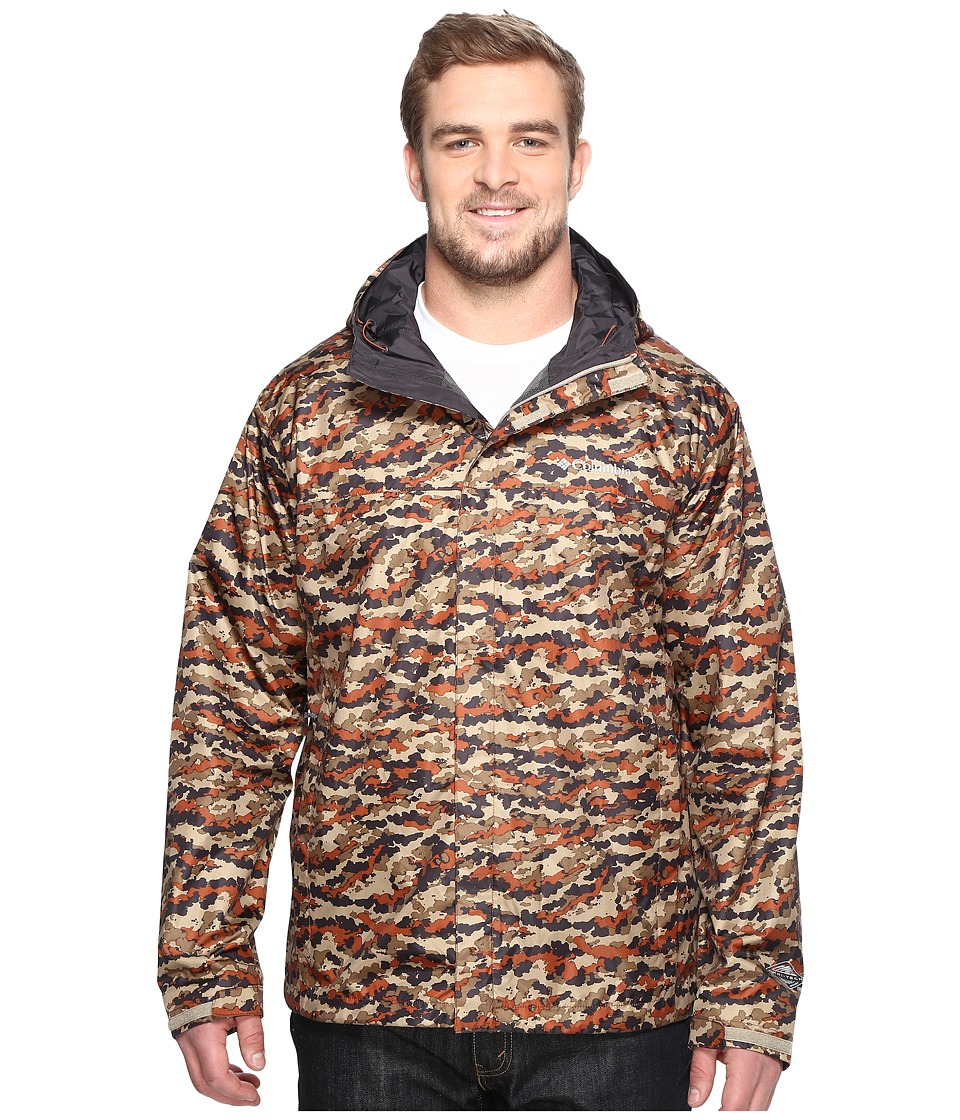 Columbia Big Tall Watertight Printed Jacket (Rustic Brown Camo) Men