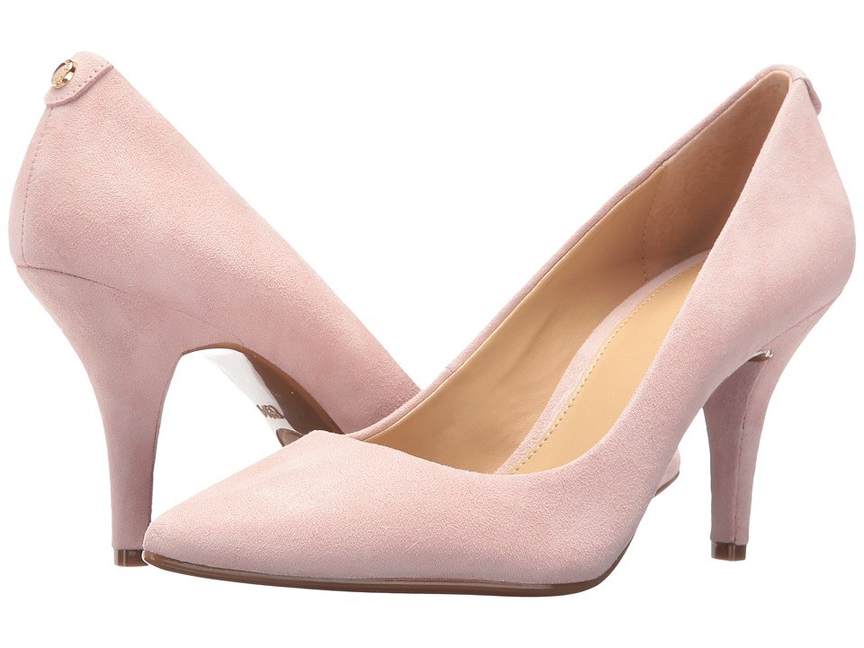 MICHAEL Michael Kors MK Flex Mid Pump (Blossom Kid Suede) High Heel Shoes