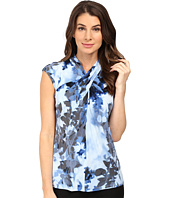 Calvin Klein - Sleeveless Printed Top w/ Knot Neck