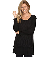 Nally & Millie - Lace Overlay Long Sleeve Tunic