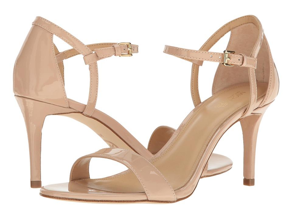 Michael Kors Simone Mid Sandal (Light Blush Patent) Women...