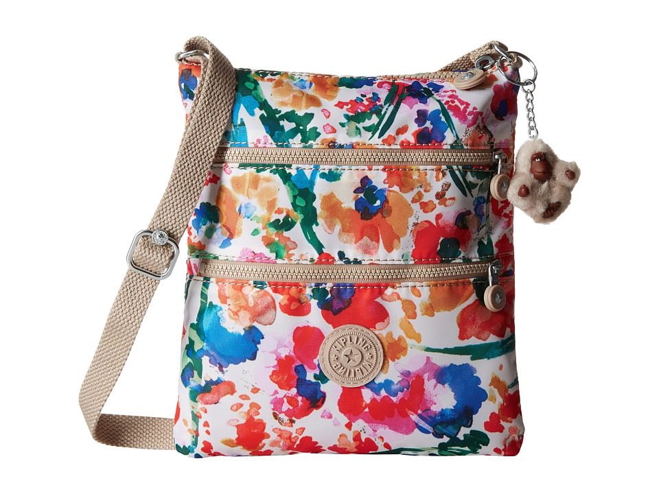 Kipling - Keiko Crossbody (Floral Night Natural) Cross Body Handbags