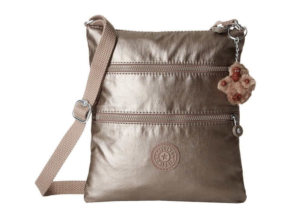 Kipling - Keiko Crossbody (Metallic Pewter) Cross Body Handbags