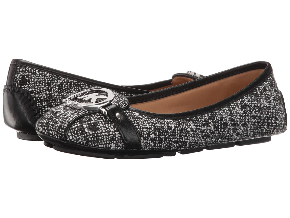 MICHAEL Michael Kors Fulton Moc (Black/White Tweed/Nappa)