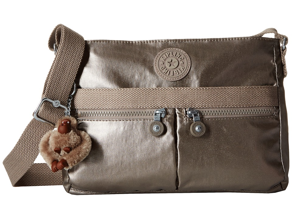 Kipling - Angie (Metallic Pewter) Handbags