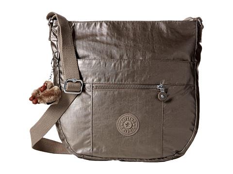 Kipling Bailey Saddle Bag Handbag - Metallic Pewter