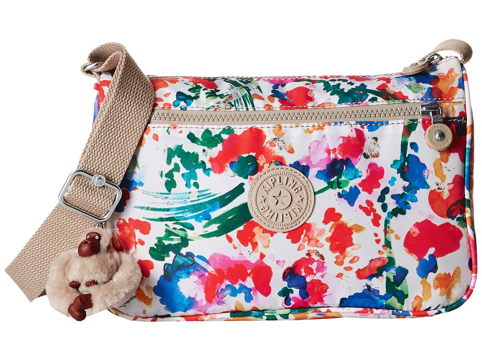 Kipling - Callie Printed Handbag (Floral Night Natural) Handbags