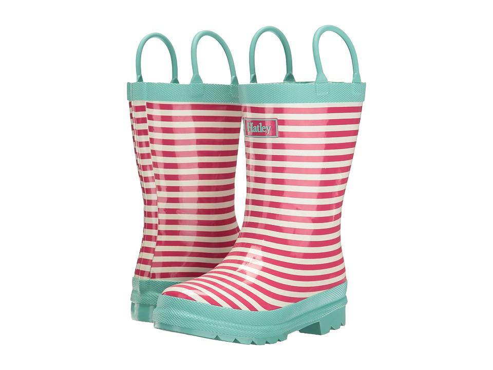 Hatley Kids - Pink Stripes Rain Boots