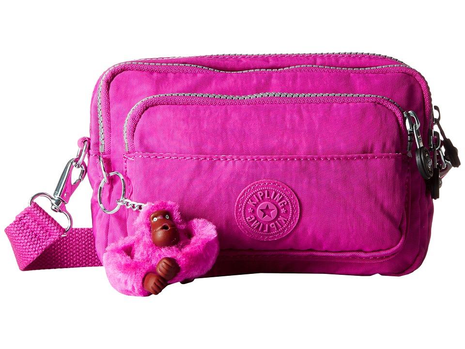 Kipling - Multiple Belt Crossbody Bag (Very Berry) Messenger Bags