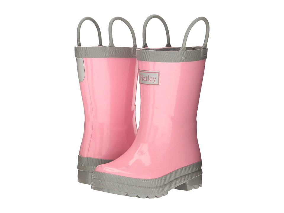 Hatley Kids Gray Pink Rain Boots (Toddler/Little Kid) (Gray/Pink) Girls Shoes