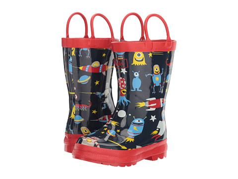 Hatley Kids Space Aliens Rain Boots (Toddler/Little Kid) - Blue
