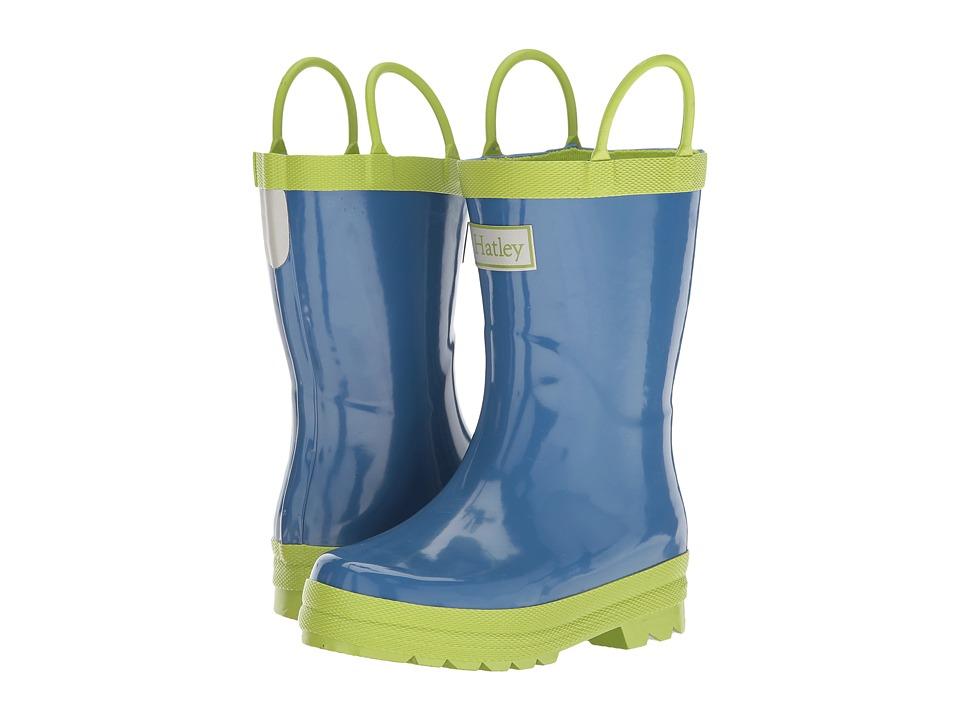 Hatley Kids Blue Green Rain Boots (Toddler/Little Kid) (Blue/Green) Boys Shoes