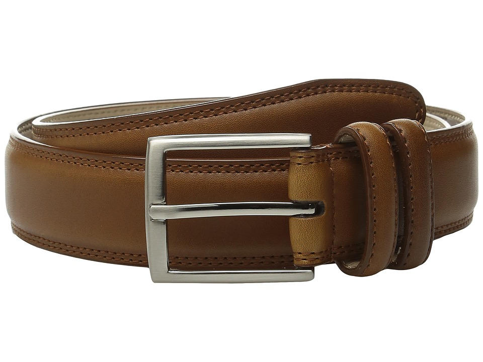 Stacy Adams 35mm Smooth Leather Dress Belt (Cognac) Men