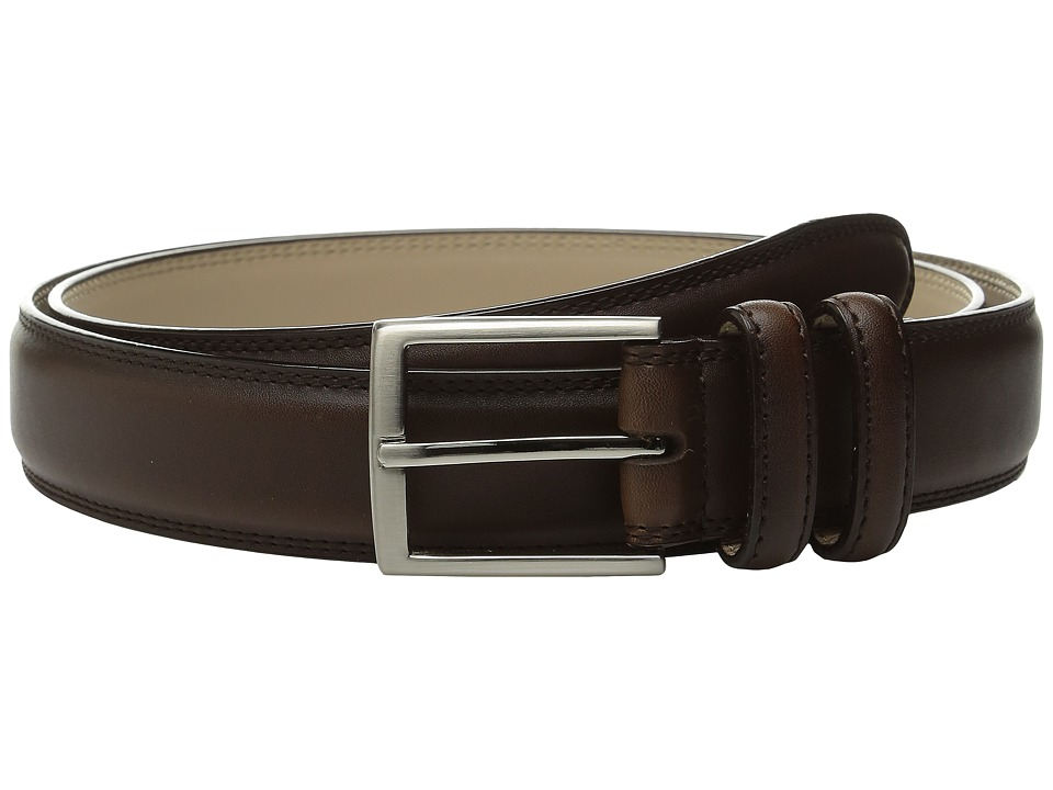 Stacy Adams 35mm Smooth Leather Dress Belt (Brown) Men