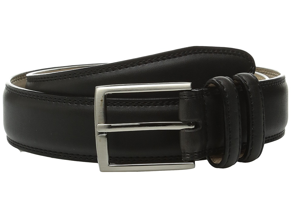 Stacy Adams 35mm Smooth Leather Dress Belt (Black) Men