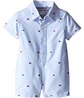 Tommy Hilfiger Kids - Tommy Printed Oxford Romper (Infant)