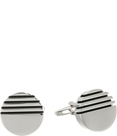 Stacy Adams - Cuff Link Circle with Half Striped with Black