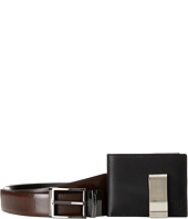 Stacy Adams - Gift Set - Belt, Front Pocket Wallet, Money Clip