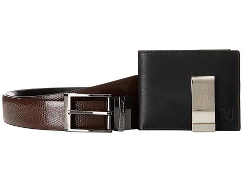 Stacy Adams Gift Set - Belt, Front Pocket Wallet, Money Clip