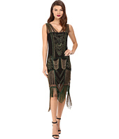 Unique Vintage - Beaded Fringe Flapper Dress