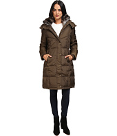 London Fog - Quiled Puffer with Fur Collar