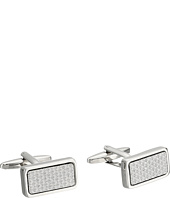 Stacy Adams - Cuff Link - Silver with Textured Inlay