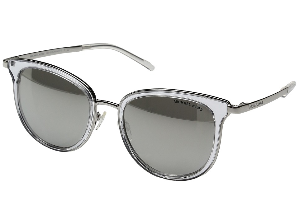 Michael Kors - Adrianna I MK1010 (Clear/Silver/Silver Mirror) Fashion Sunglasses