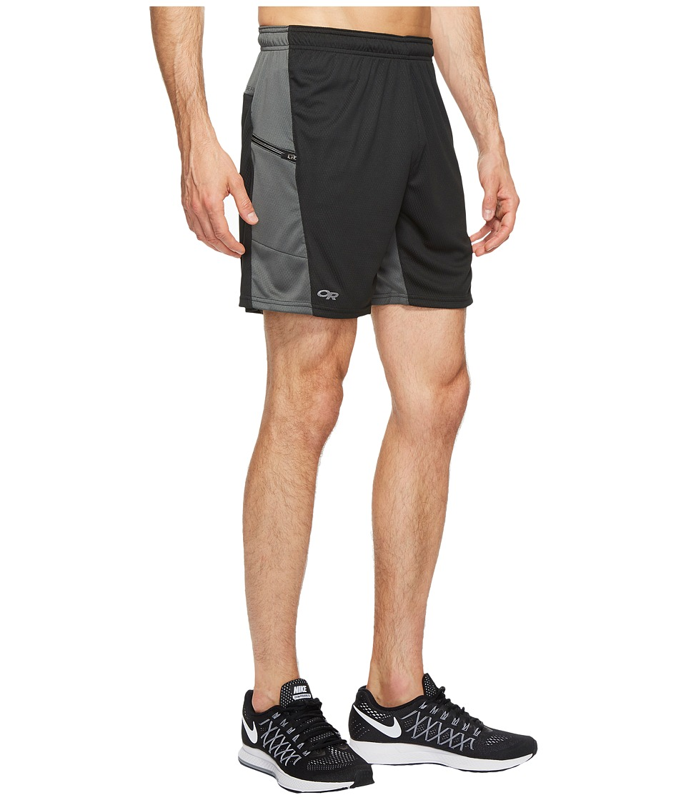 Outdoor Research Pronto Shorts (Black/Charcoal) Men