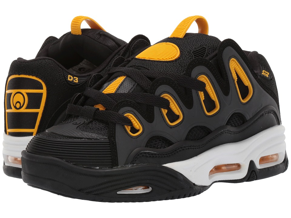 Osiris D3 2001 (Black/White/Yellow) Men