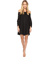 Halston Heritage - Wide Long Sleeve Dress w/ Cold Shoulder Detail